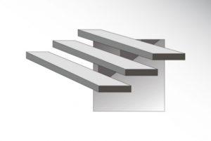 Format schodów - samonośne na belce | DASAG