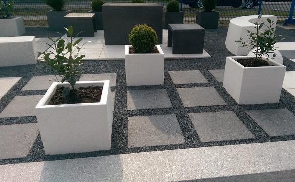 Donice z betonu architektonicznego   DASAG
